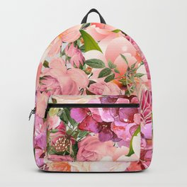 Natural Pink Flowers Backpack