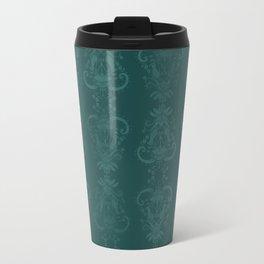 Carnivorous Damask (Turquoise) Travel Mug