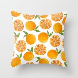 Oranges Pattern Throw Pillow
