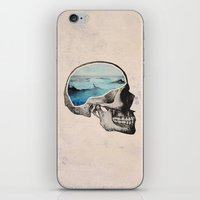 sea iPhone & iPod Skins featuring Brain Waves by Chase Kunz