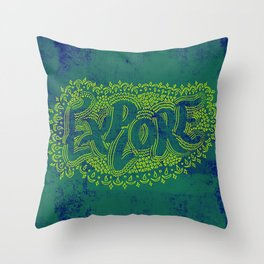 E X P L O R E Throw Pillow