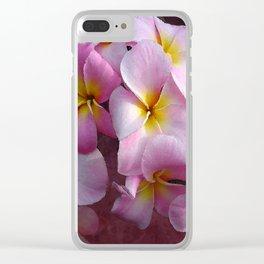 Hawiian Plumeria Garden Clear iPhone Case