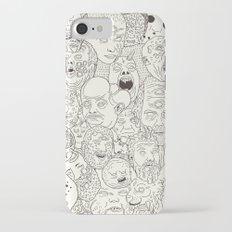 Faces of Math (no color edition)  iPhone 7 Slim Case