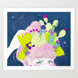 Cactus Crown Art Print