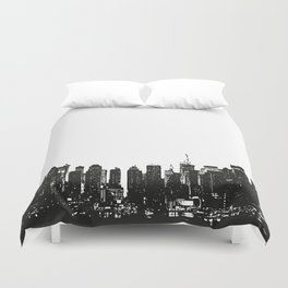 New York black and white high quality art print Duvet Cover