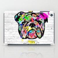 bulldog iPad Cases featuring Bulldog by morganPASLIER