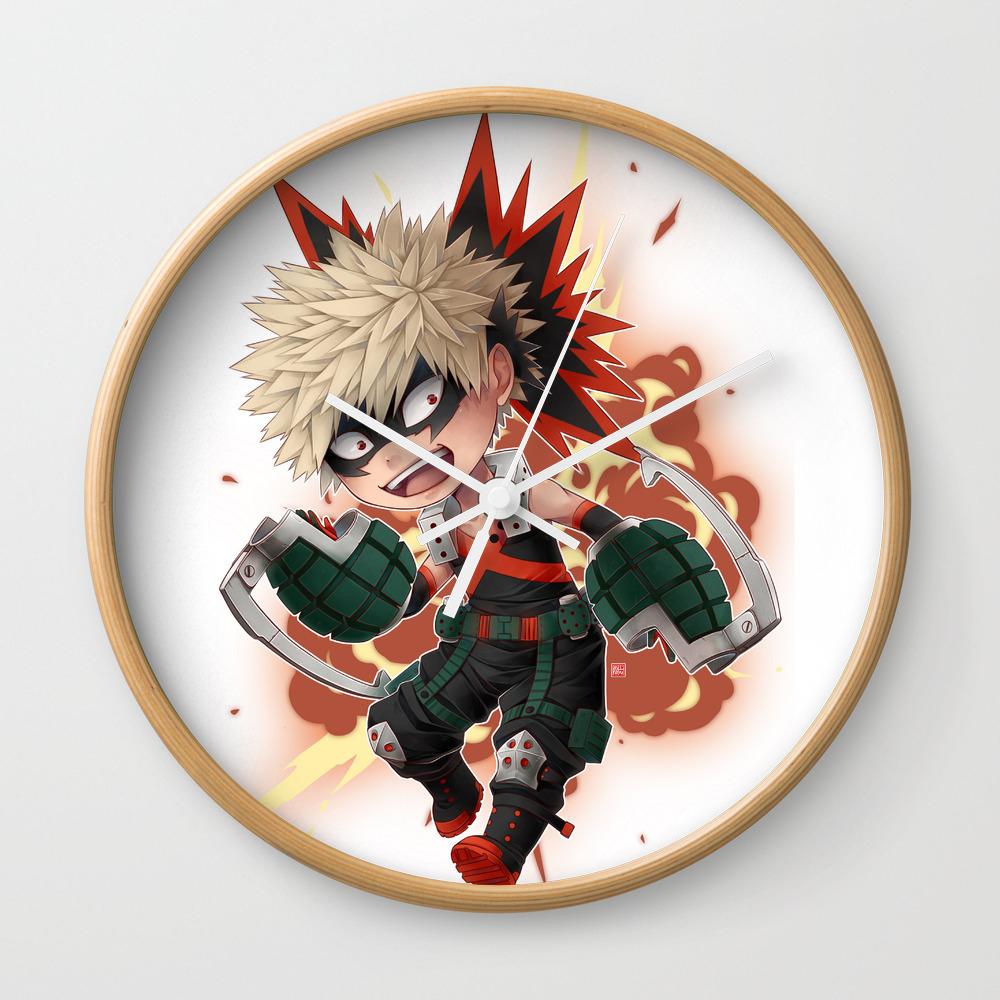 Bnha Katsuki Bakugou Chibi Wall Clock