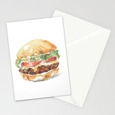 A burger Stationery Cards
