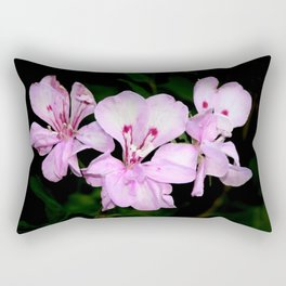 Three pink flowers bouquet Rectangular Pillow