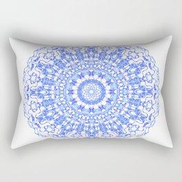Mandala 12 / 2 eden spirit indigo blue Rectangular Pillow
