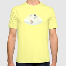 Douse the Light Mens Fitted Tee SMALL Lemon