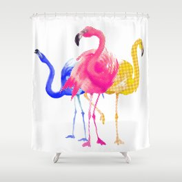Catwalk Flamingo's Shower Curtain