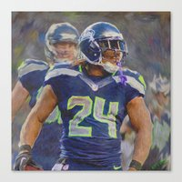 seahawks Canvas Prints featuring Beast Mode - Seahawks #24 by KyddCo