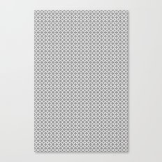 Quatrefoil Grey Canvas Print