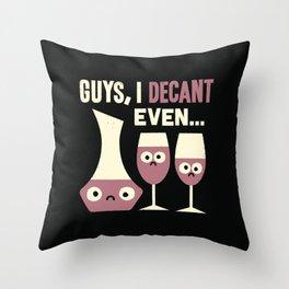 Contain Yourself Throw Pillow