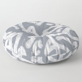 Gray Abstract Squiggles Floor Pillow