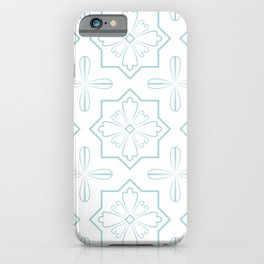 Icy Blue Portugal Pattern iPhone Case