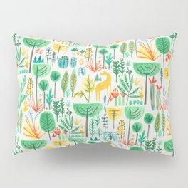 Jungle life with golden unicorn Pillow Sham