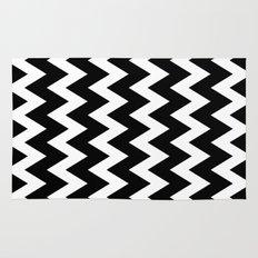 Chevron Black & White Rug