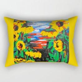 Summer Sunflowers Rectangular Pillow