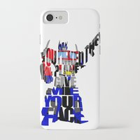 optimus prime iPhone & iPod Cases featuring Optimus Prime by Ayse Deniz
