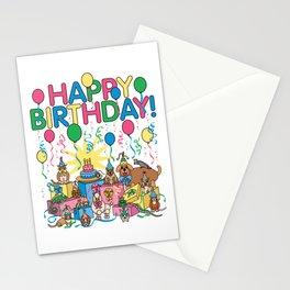 Birthday Party Animals Stationery Cards
