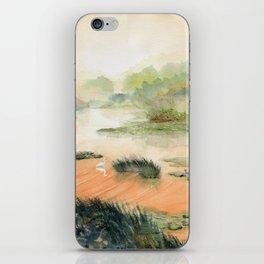 Egret On The Marsh iPhone Skin