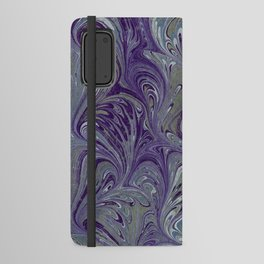 Purple, Blue, & Green Marbled Android Wallet Case