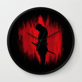 The way of the samurai warrior Wall Clock