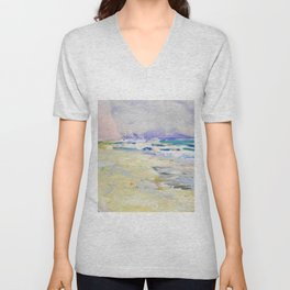 oil sea painting Unisex V-Neck