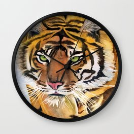Walking Tiger Wall Clock