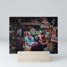 Sololá Market in Guatemala Mini Art Print