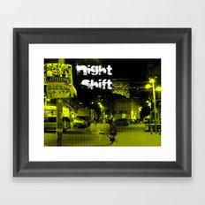 night shift Framed Art Print