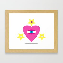 Eye Heart You. Framed Art Print