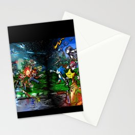 Nintendo Vs Sega Stationery Cards