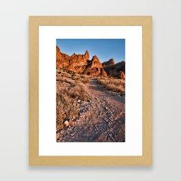 Siphon Draw Trail Framed Art Print