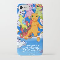 digimon iPhone & iPod Cases featuring Digimon Tri by Kazenishi