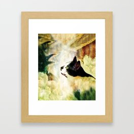 Gypsy Da Fleuky Cat and the Kitty Whisker Wishes Framed Art Print