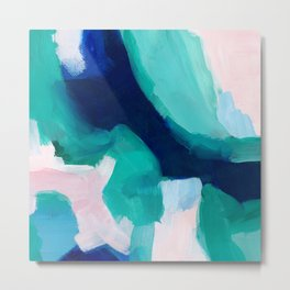 Lakeside abstract Metal Print