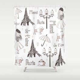 Paris Girl Shower Curtain
