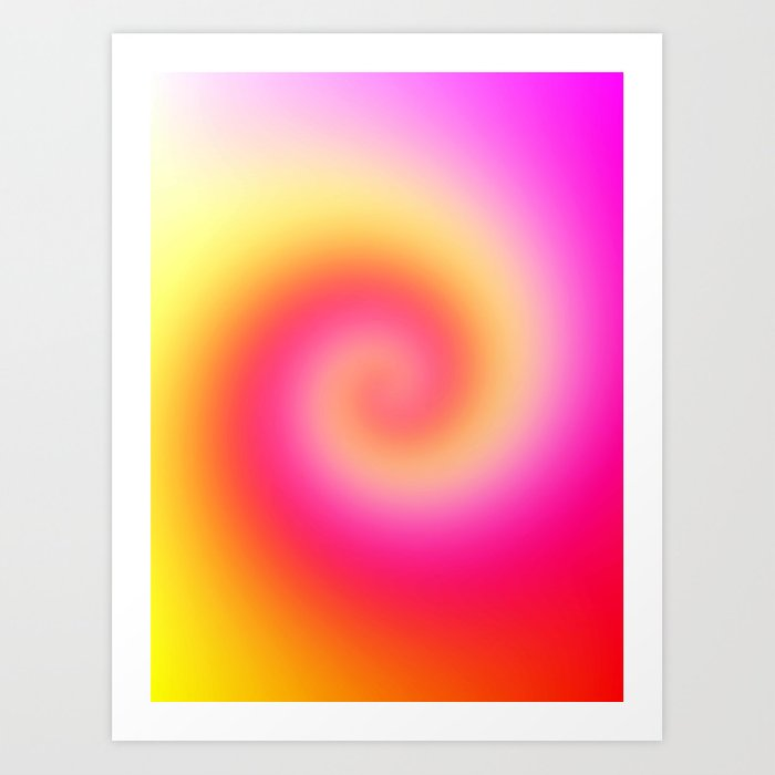 Spiral Of Color Art Print