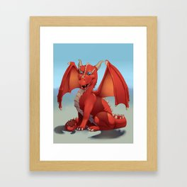 Monster of the Week: Red Dragon Framed Art Print