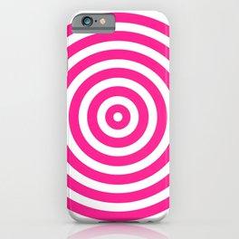 Circles (Dark Pink & White Pattern) iPhone Case