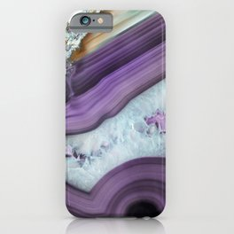 Purple Agate Slice iPhone Case