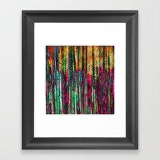 Colored Bamboo Framed Art Print
