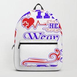 Real Heroes Wear Scurbs - Nurse Design - Nurse Design Backpack