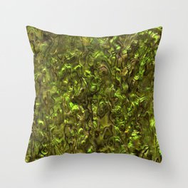 Abalone Shell | Paua Shell | Yellow Tint Throw Pillow