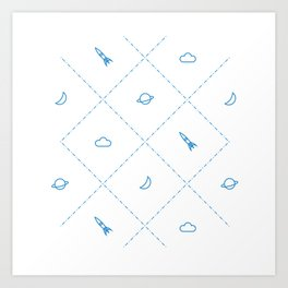 Simple Space Art Print
