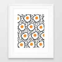 eggs Framed Art Prints featuring Eggs by Bouffants and Broken Hearts