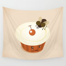 Fly on a Cupcake Wall Tapestry